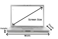 laptop display size