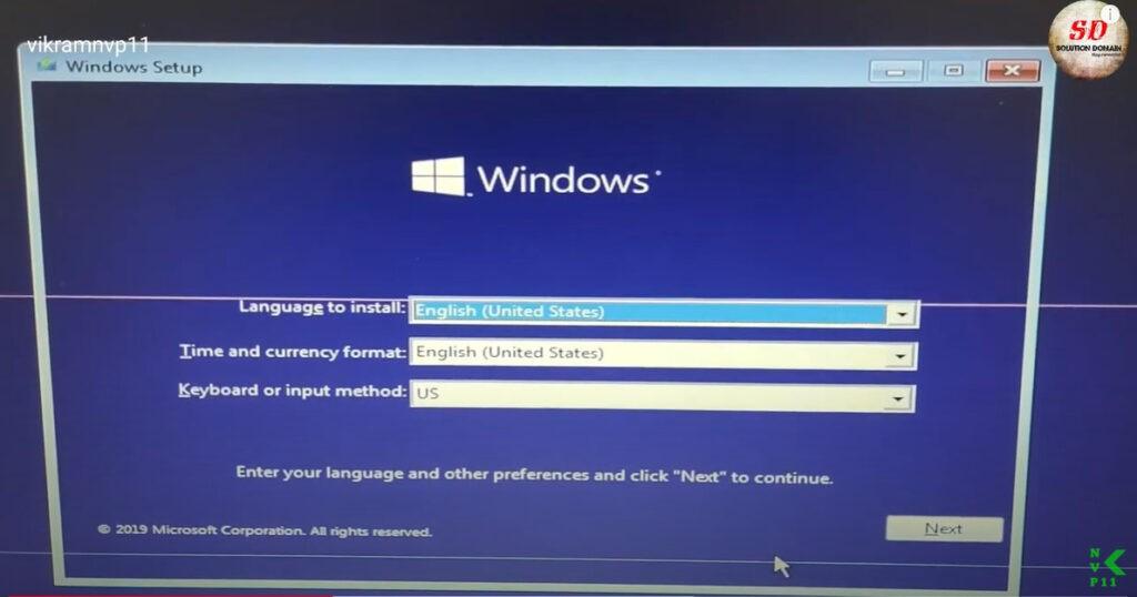 windows installation setupwindows installation setup